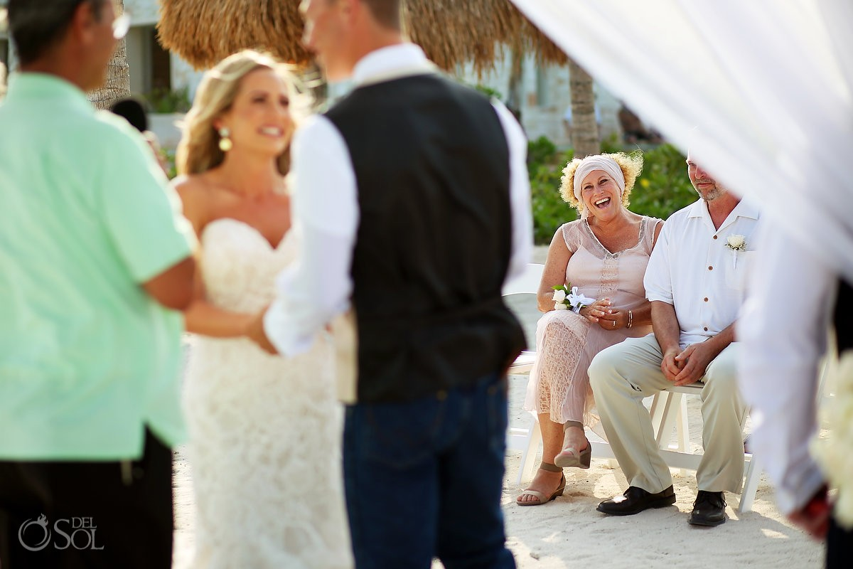 guest reactions beach destination wedding, Secrets Akumal, Riviera Maya, Mexico