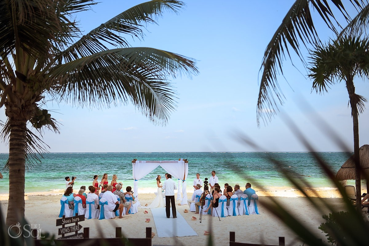 beach destination wedding Dreams Riviera Cancun