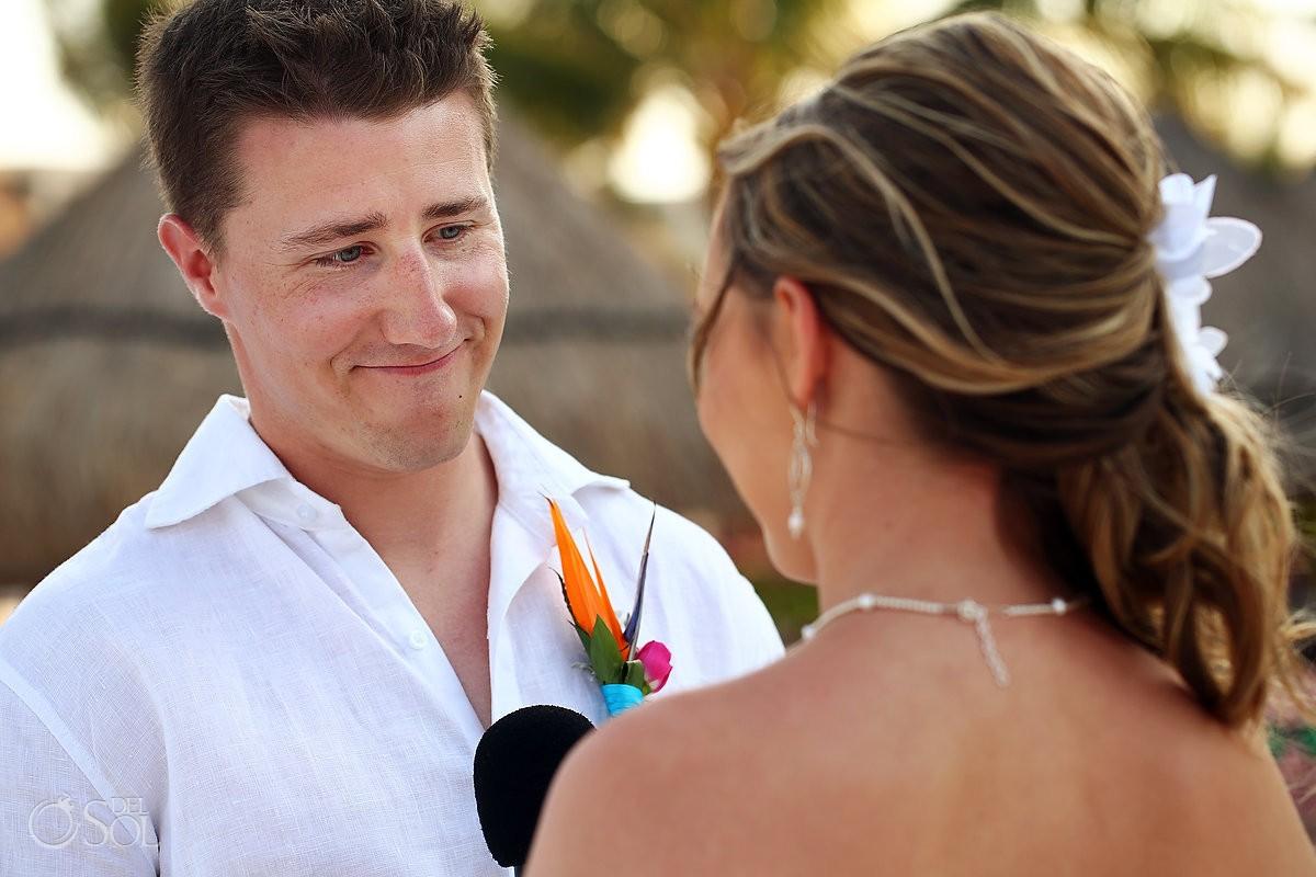 groom smiling Dreams Riviera Cancun