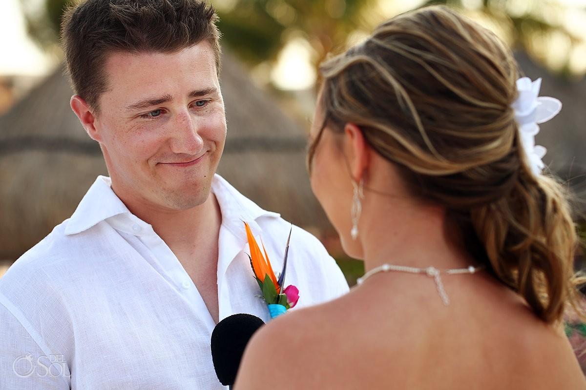 groom smiling Dreams Riviera Cancun