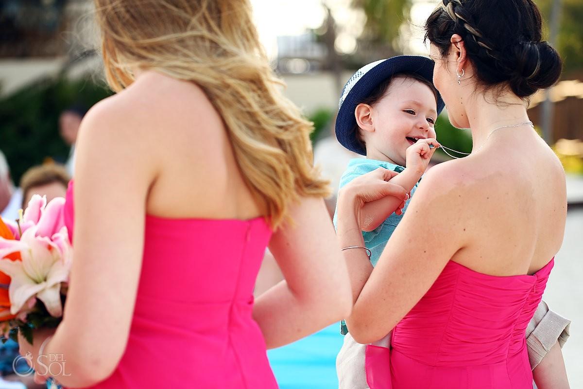 cute kid beach wedding Dreams Riviera Cancun