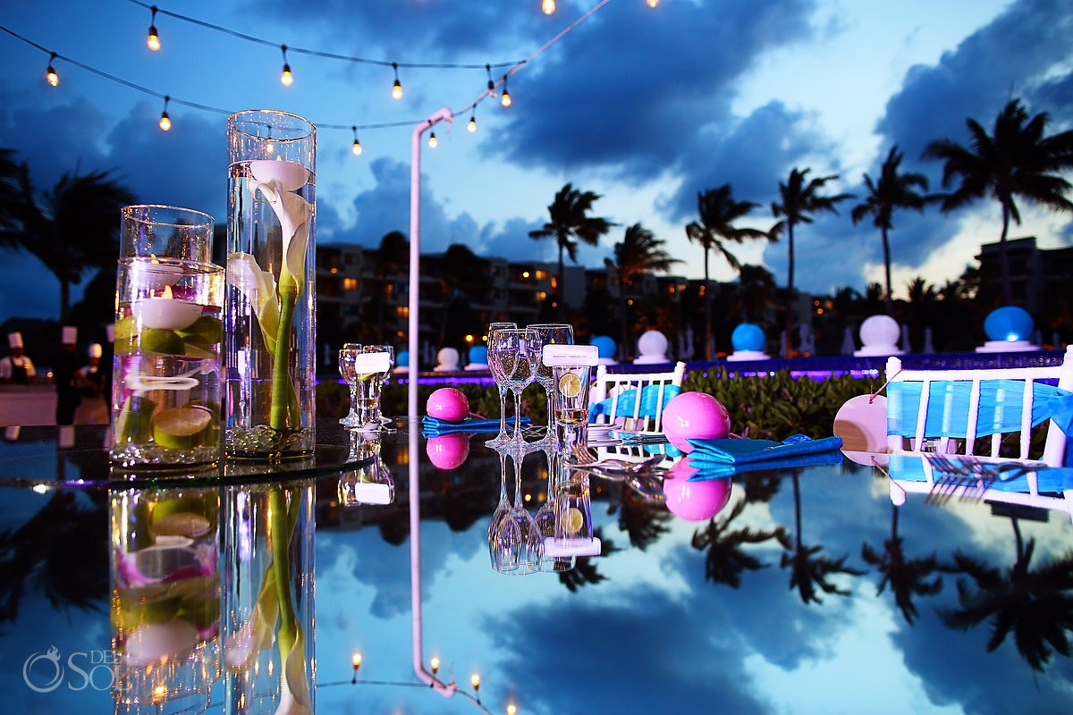Wedding set up ideas Dreams Riviera Cancun Resort Mexico