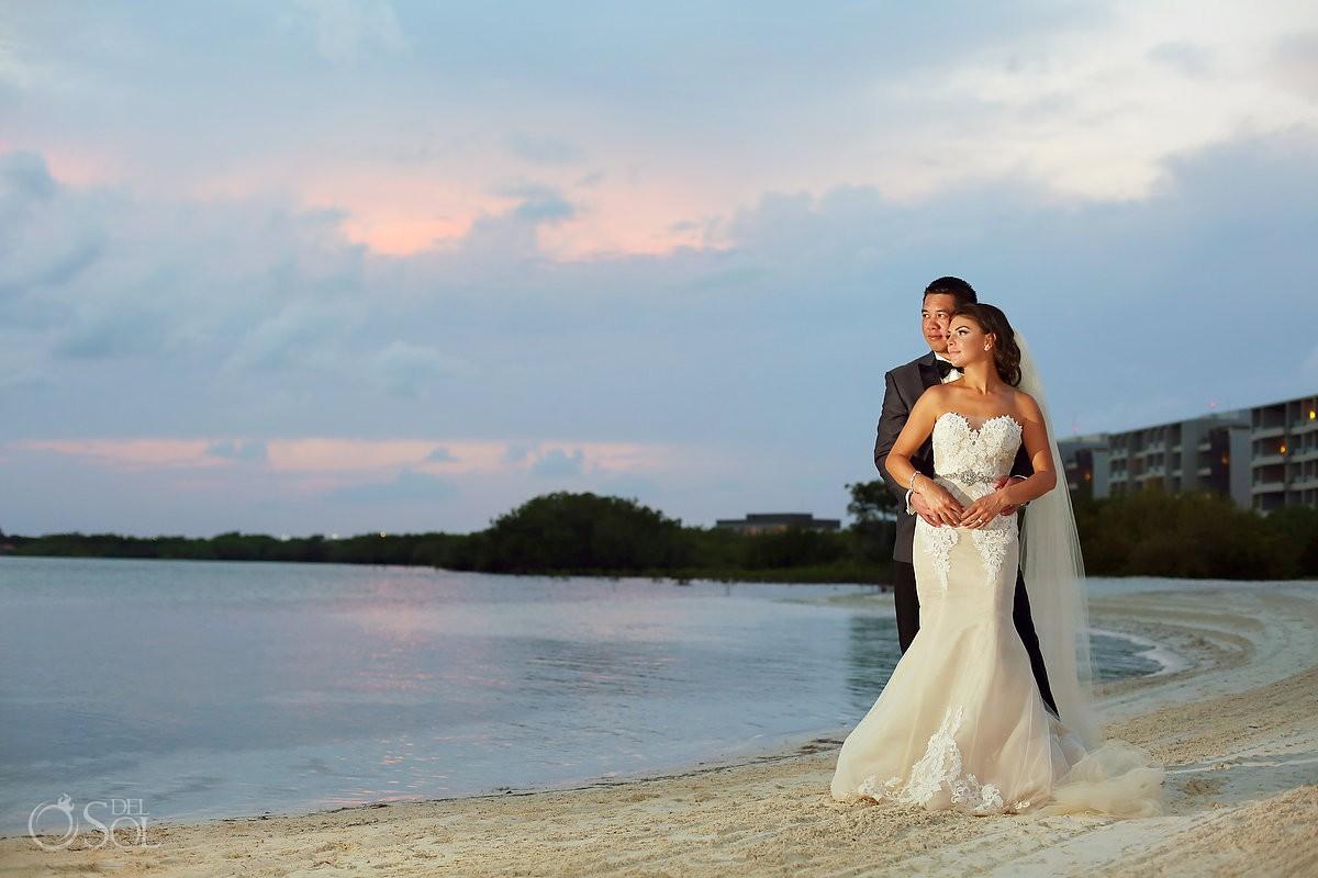 beach portrait Destination Wedding NIZUC Resort, Cancun