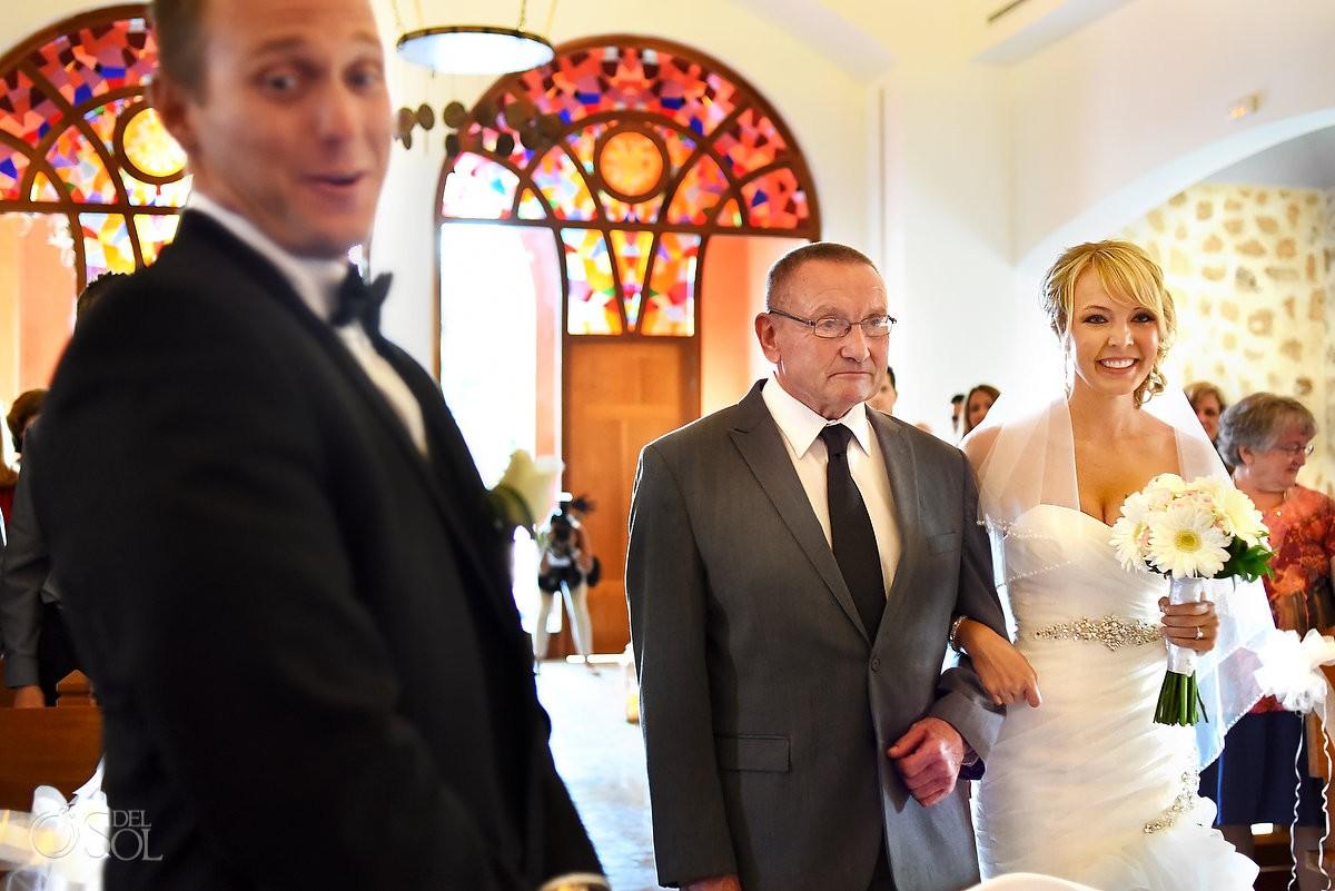 bride entrance Iberostar Paraiso Lindo Chapel wedding