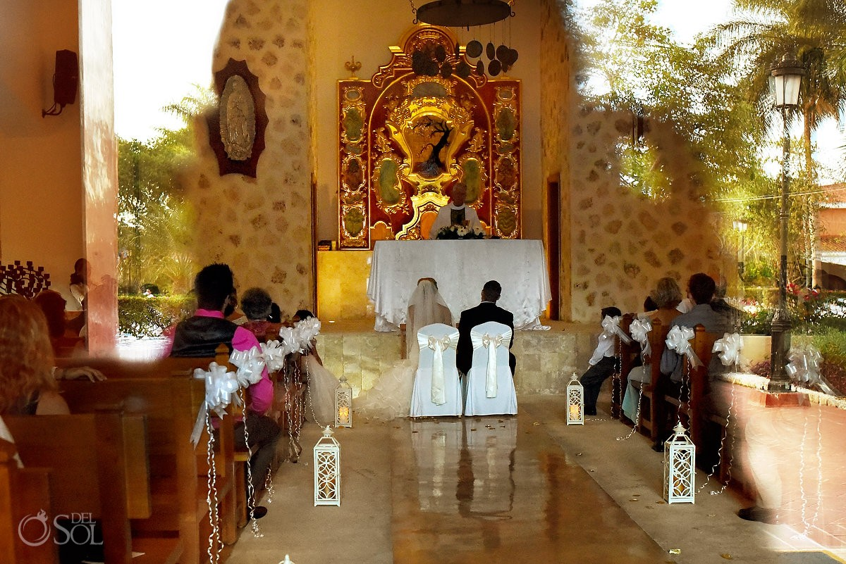 destination wedding catholic mass, Iberostar Paraiso Lindo, Riviera Maya, Our Lady of the Paradise Chapel