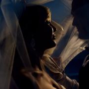 artistic wedding portrait Iberostar Paraiso Lindo, Riviera Maya, Mexico