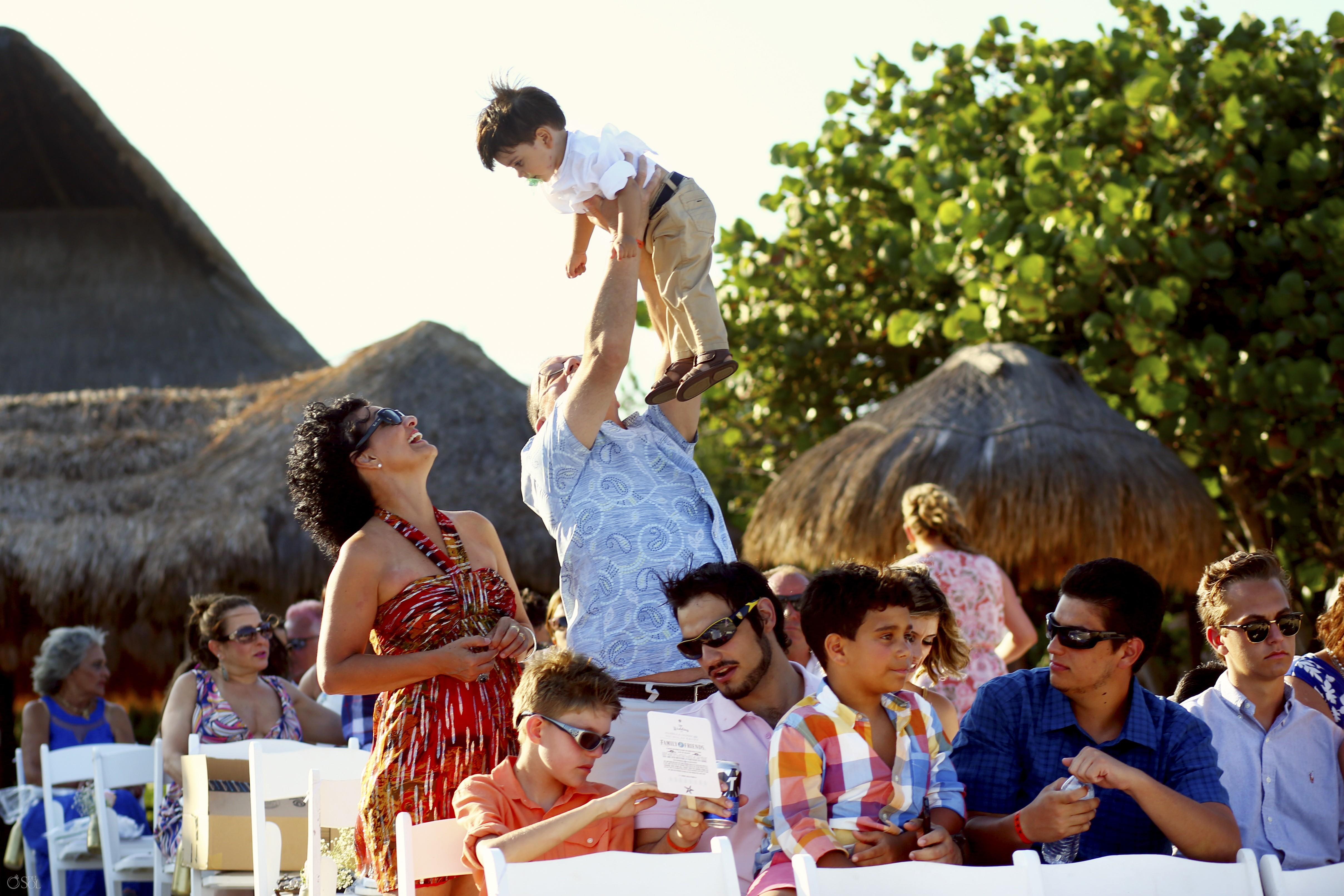 wedding guests destination wedding Blue Venado Beach Club, Playa del Carmen, Mexico