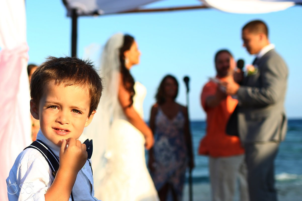 cure kid destination wedding Blue Venado Beach Club, Playa del Carmen, Mexico