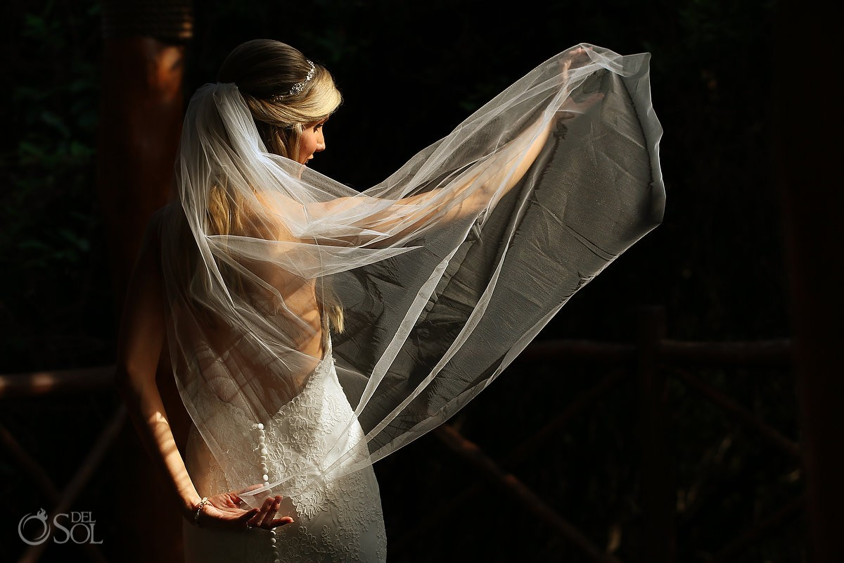destination wedding bride getting ready at Paradisus, Playa del Carmen