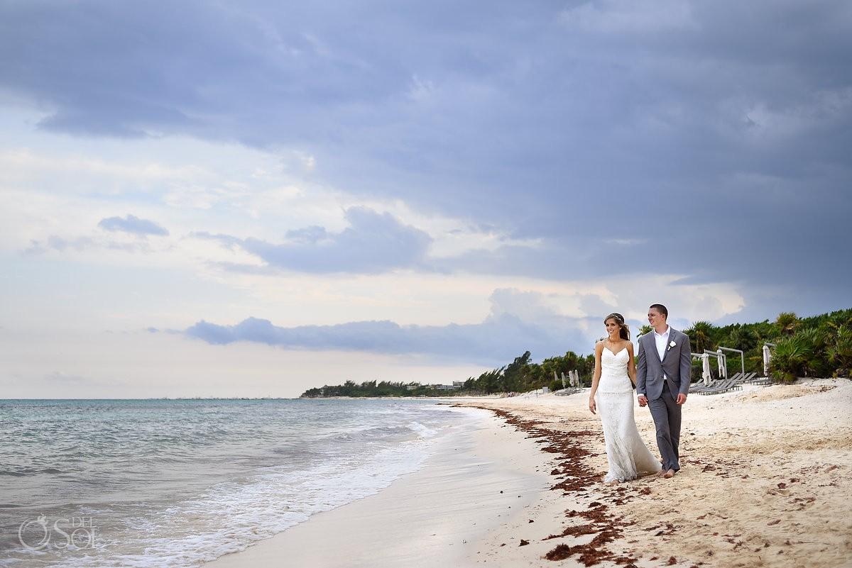 destination wedding beach photo at paradisus resort playa del carmen