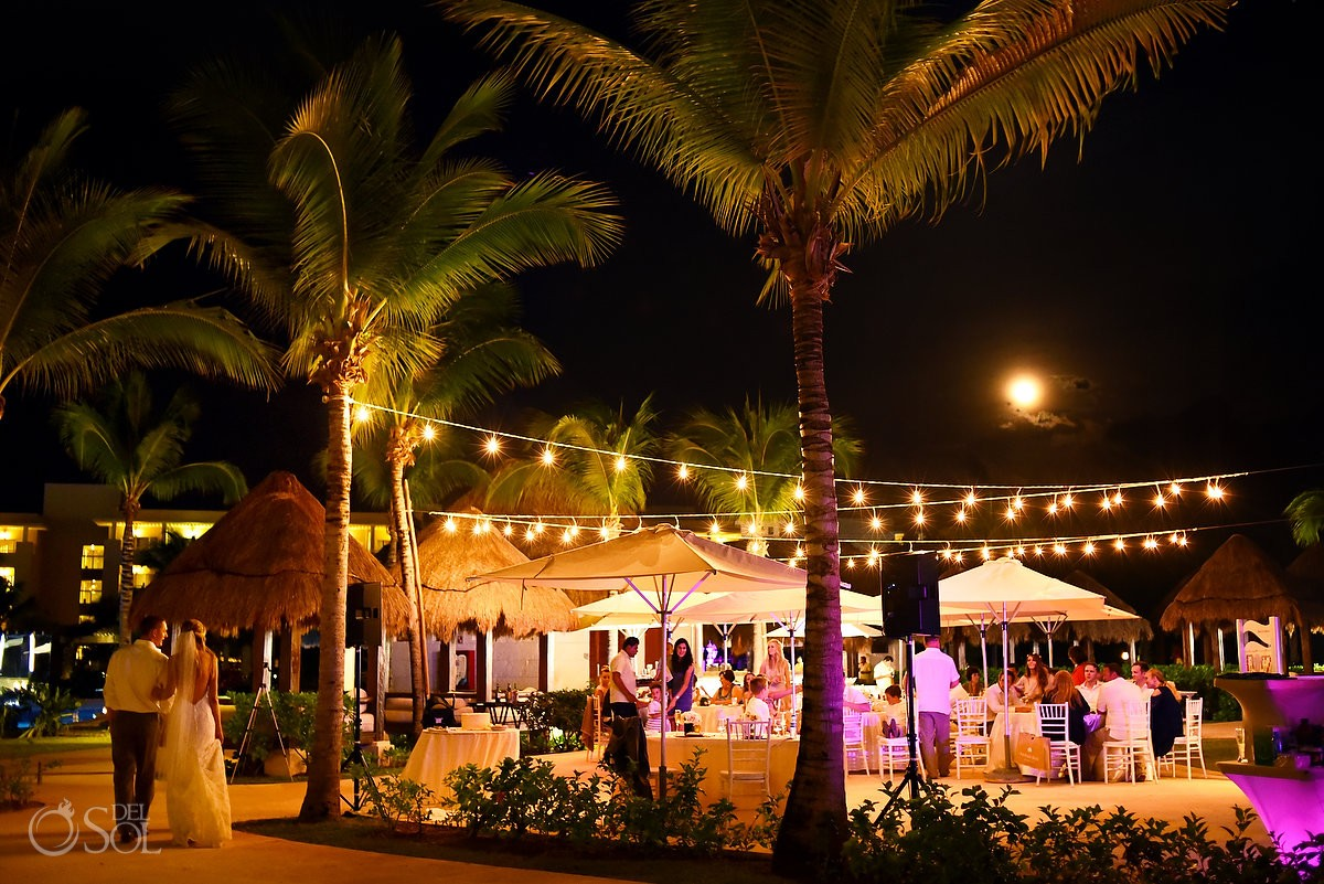 moonlit destination wedding reception at paradisus playa del carmen