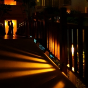 destination wedding photo of bride and groom at paradisus resort playa del carmen