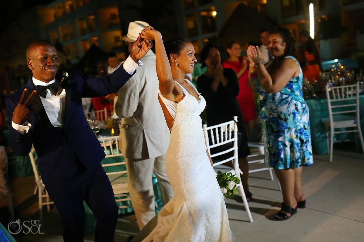 destination wedding reception entrance Paradisus La Esmeralda, Playa del Carmen, Mexico