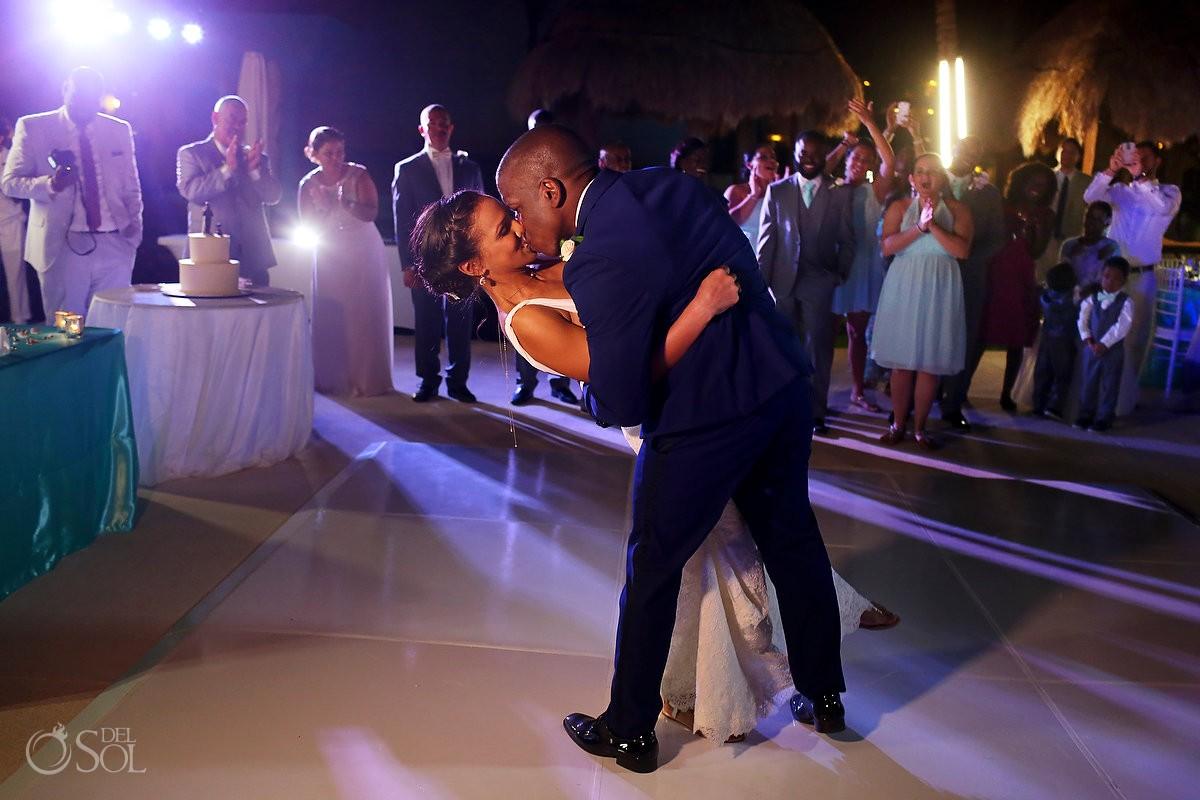 destination wedding reception first dance Paradisus La Esmeralda, Playa del Carmen, Mexico