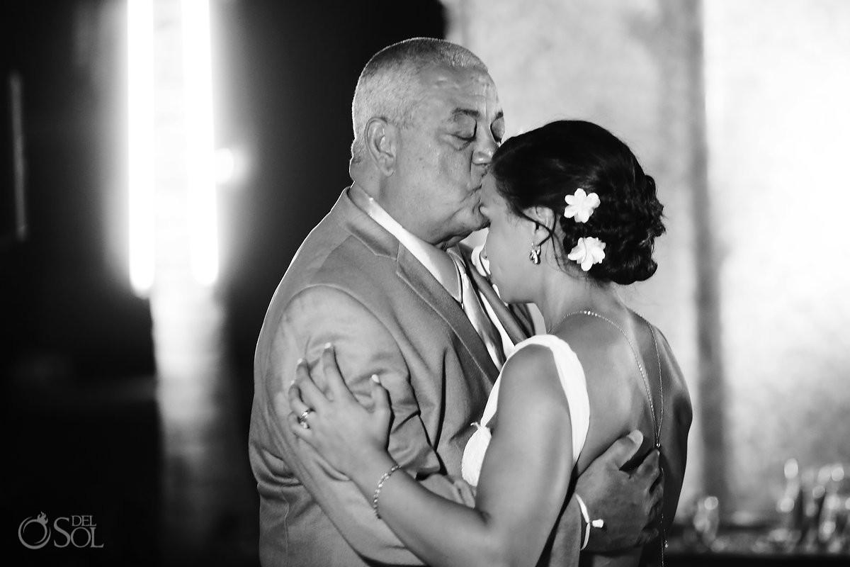 destination wedding reception father daughter first dance Paradisus La Esmeralda, Playa del Carmen, Mexico