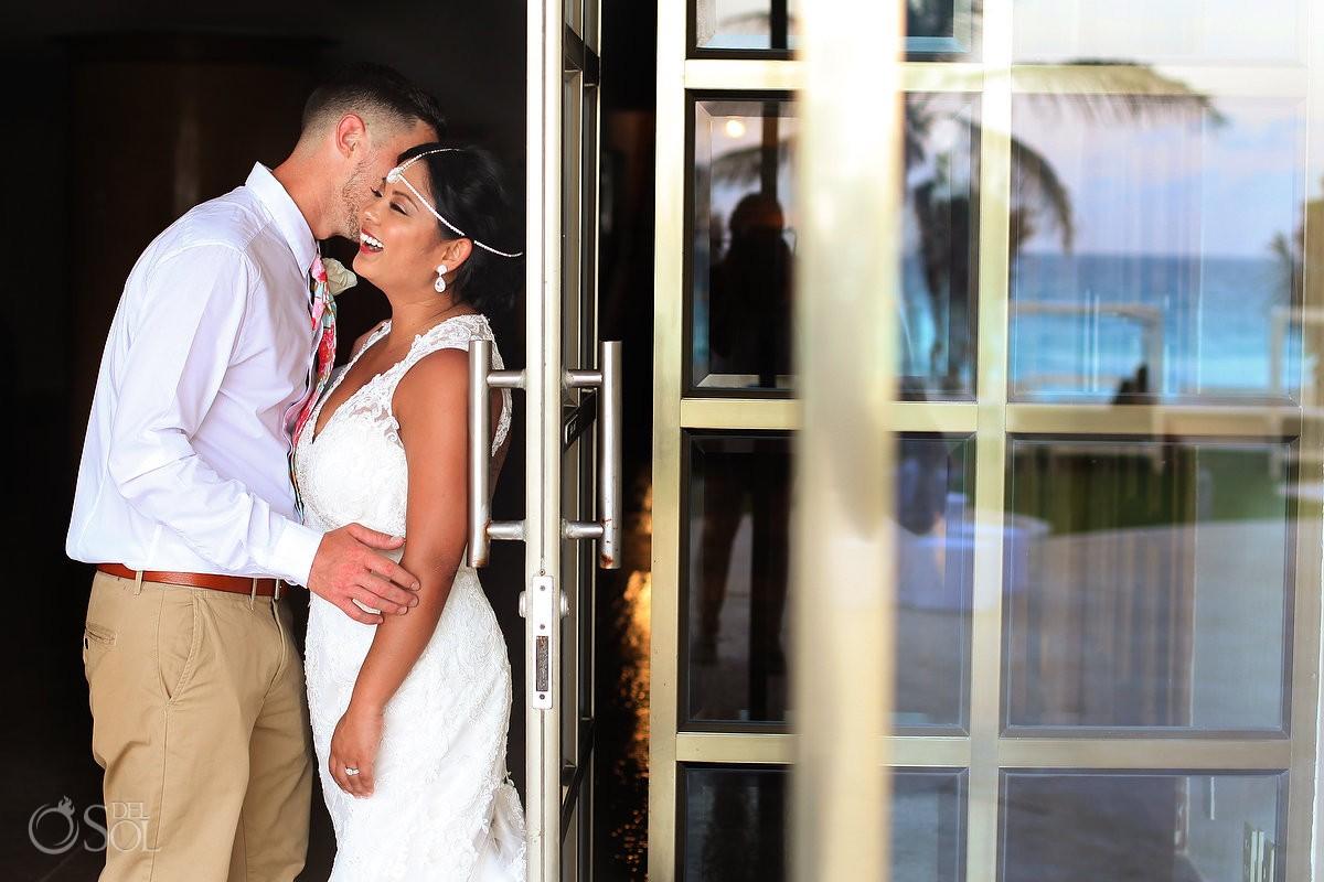 destination wedding portrait Sandos Luxury Cancun Mexico