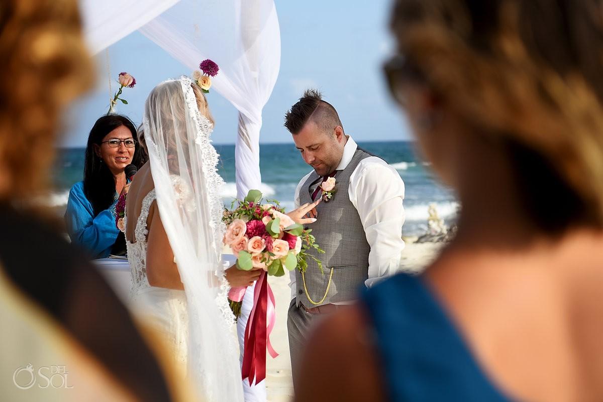 sweet ceremony moment, Destination Wedding Valentin Imperial Maya beach