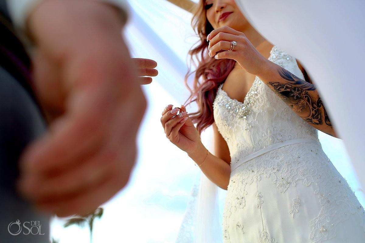 ring exchange beach destination wedding , Valentin Imperial Maya, Playa del Carmen, Mexico