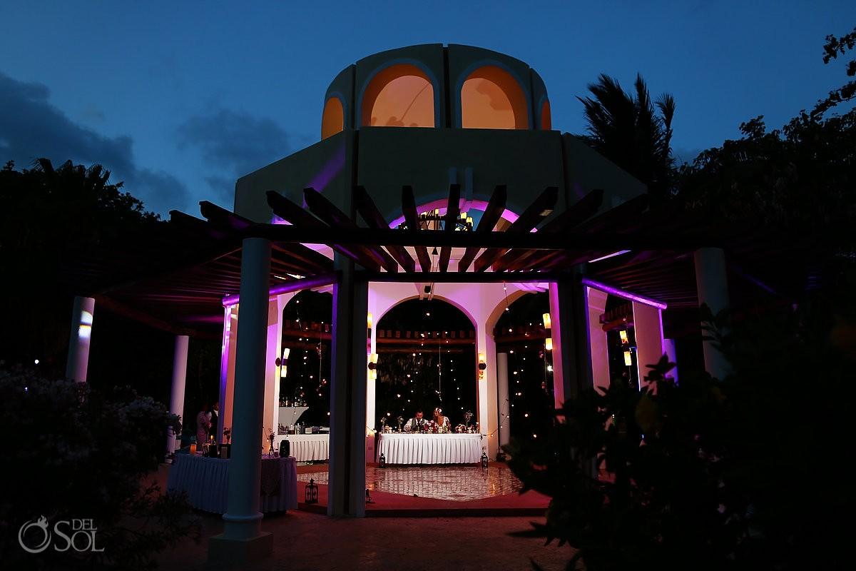 destination wedding reception, Valentin Imperial Maya gazebo