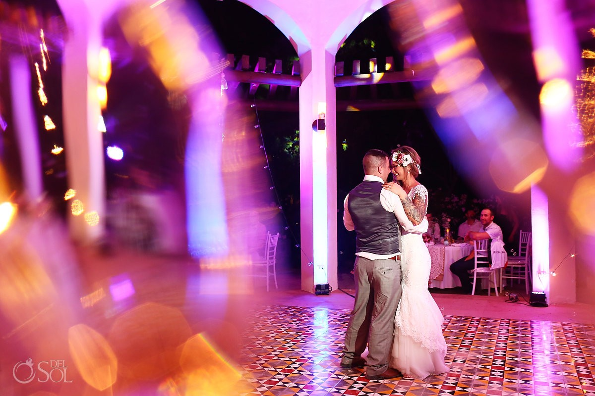 destination wedding reception first dance Valentin Imperial Maya gazebo