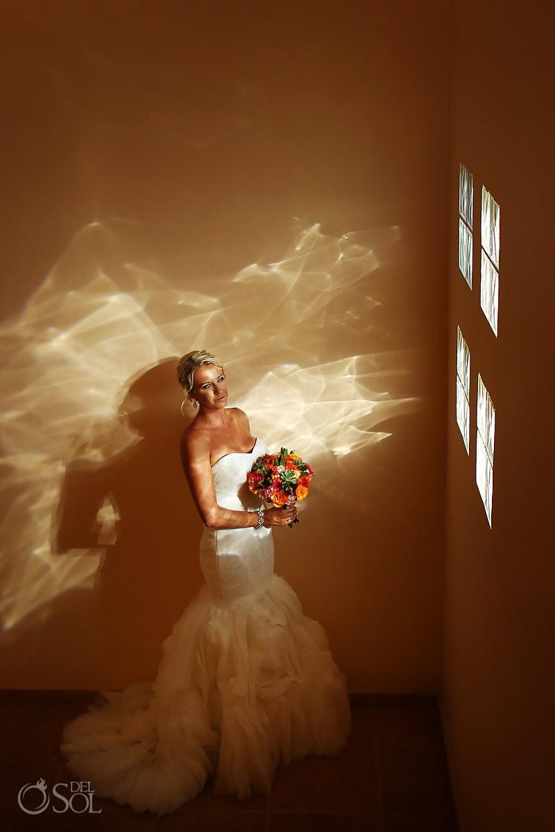 bride bridal portrait Destination Wedding Barceló Maya Palace Deluxe, Riviera Maya, Mexico