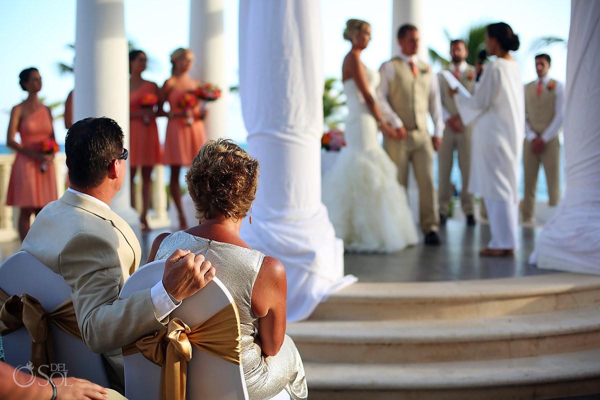 family love Destination Wedding Barceló Maya Palace Deluxe gazebo, Riviera Maya, Mexico