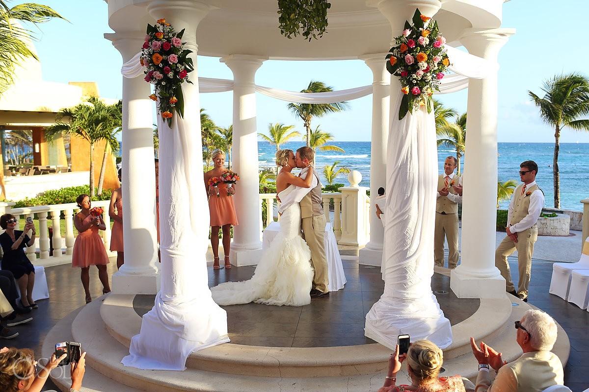 First Kiss Destination Wedding Barceló Maya Palace Deluxe gazebo, Riviera Maya, Mexico