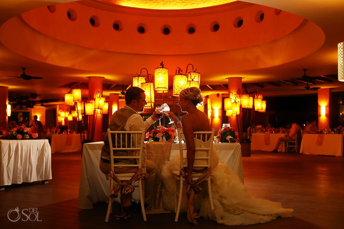 destination wedding reception Coral Grill Barceló Maya Palace Deluxe, Riviera Maya, Mexico