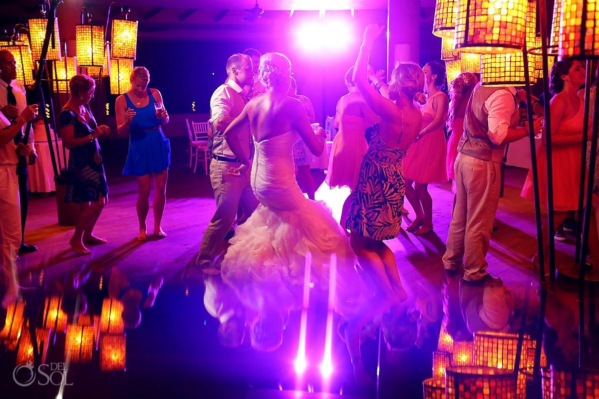 dancing wedding reception Coral Grill Barceló Maya Palace Deluxe, Riviera Maya, Mexico