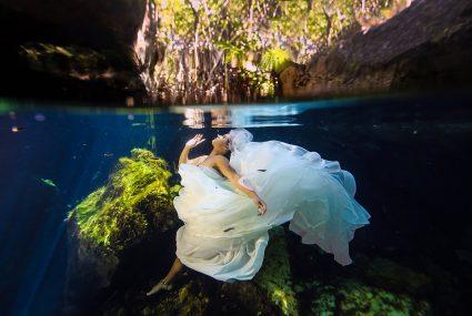 Sunrise Beach And Cenote Trash The Dress Sarai Lamar