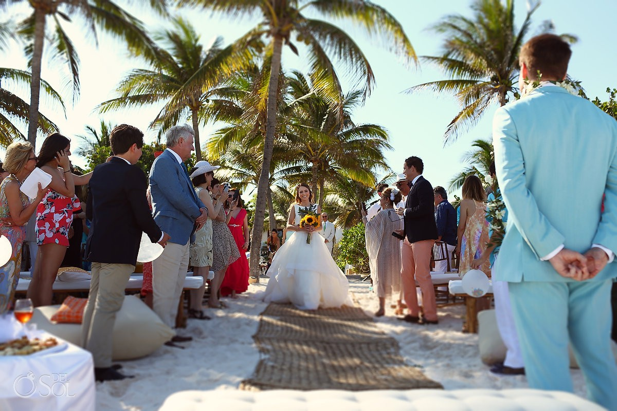 mexico beach destination wedding at hotel esencia