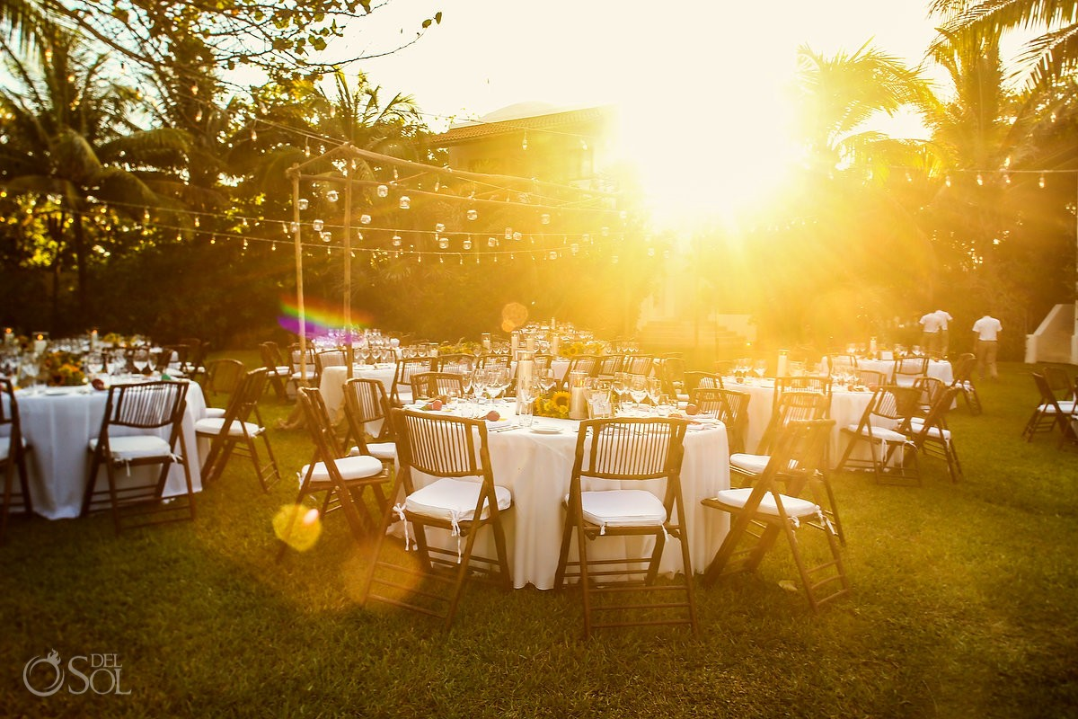 garden wedding reception at hotel esencia
