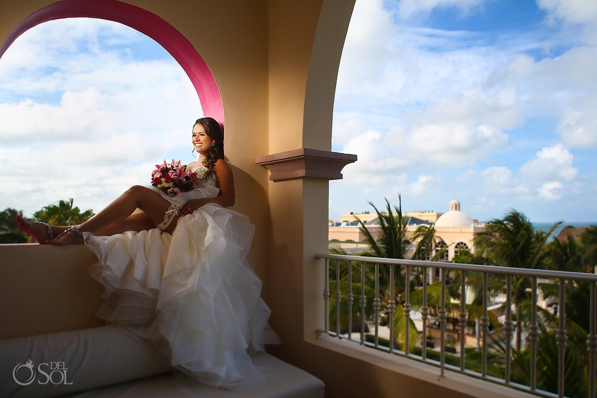 Bride bridal portrait Destination Wedding, Excellence Riviera Cancun, Mexico