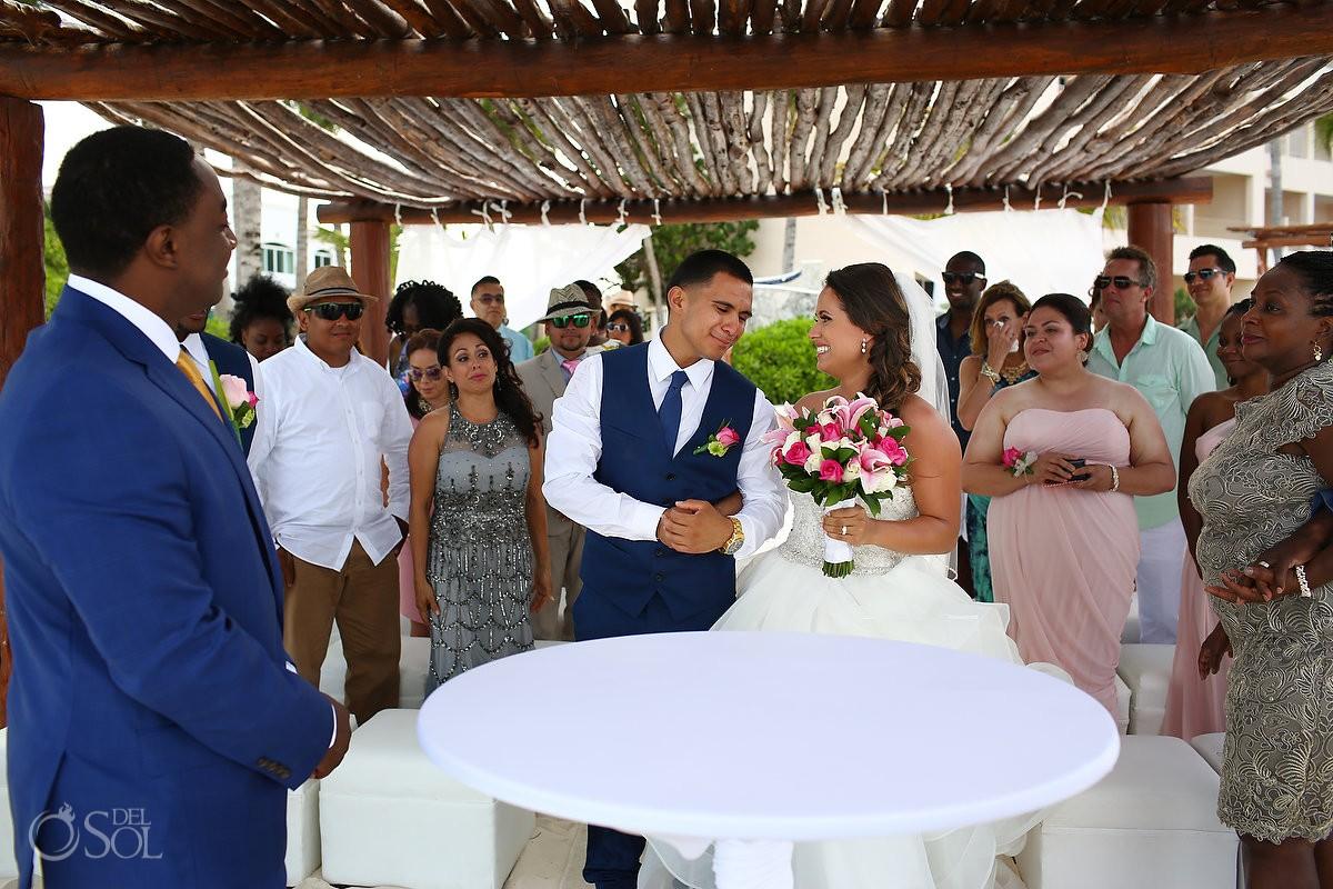 Bride arrives Gazebo Destination Wedding, Puerto Morelos, Mexico