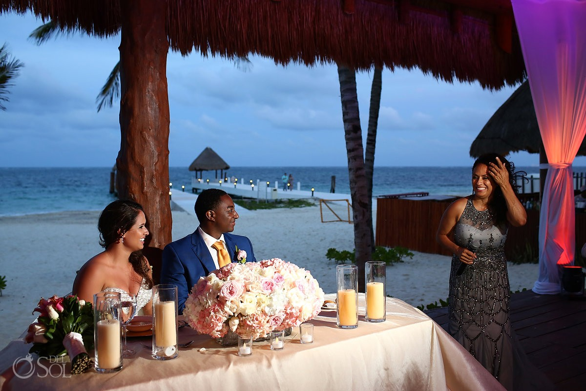Destination wedding reception toasts speeches, Excellence Riviera Cancun, Restaurant, Riviera Maya, Mexico