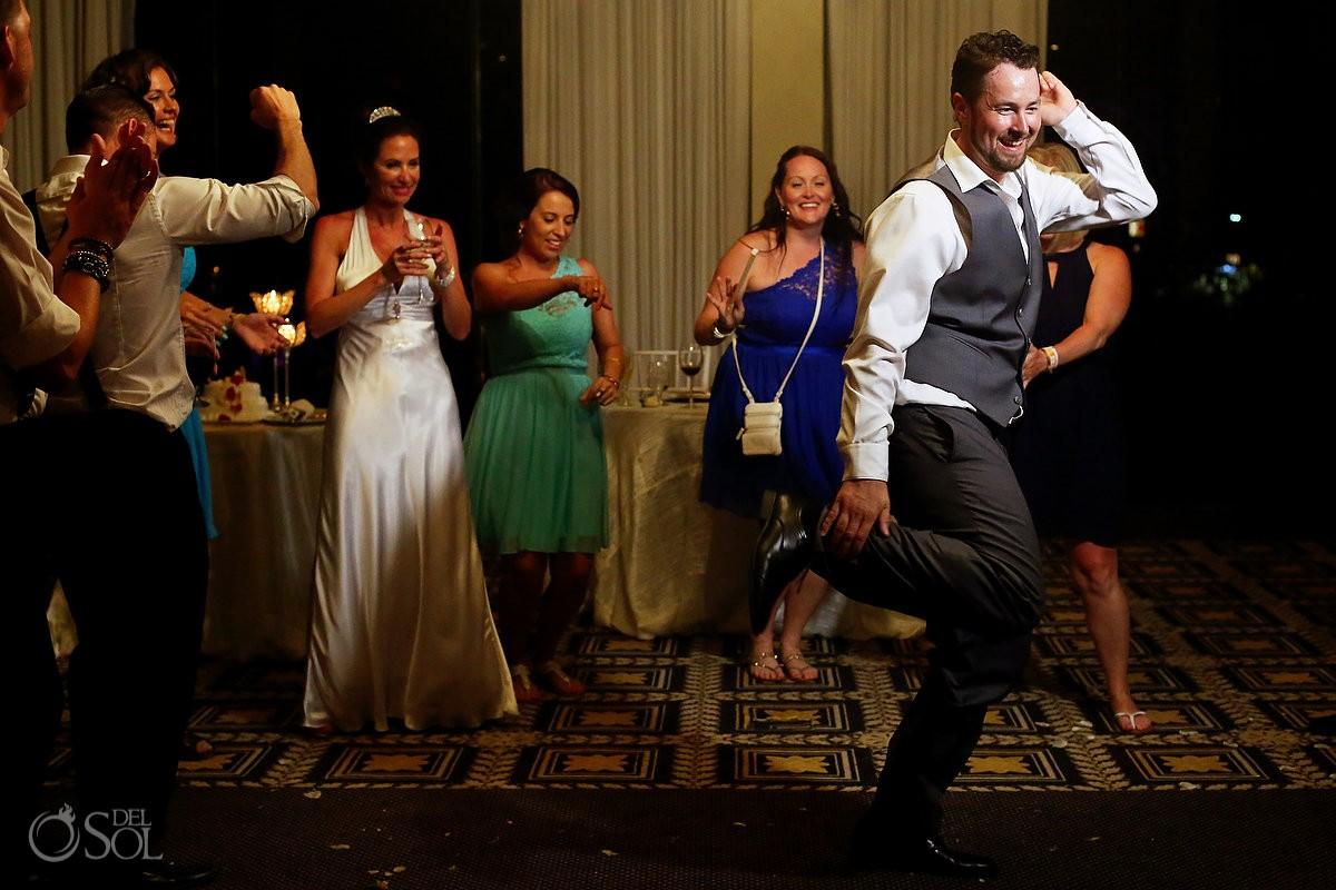 Groom Best Dance Destination Wedding at Paradisus, Cancun, Mexico.