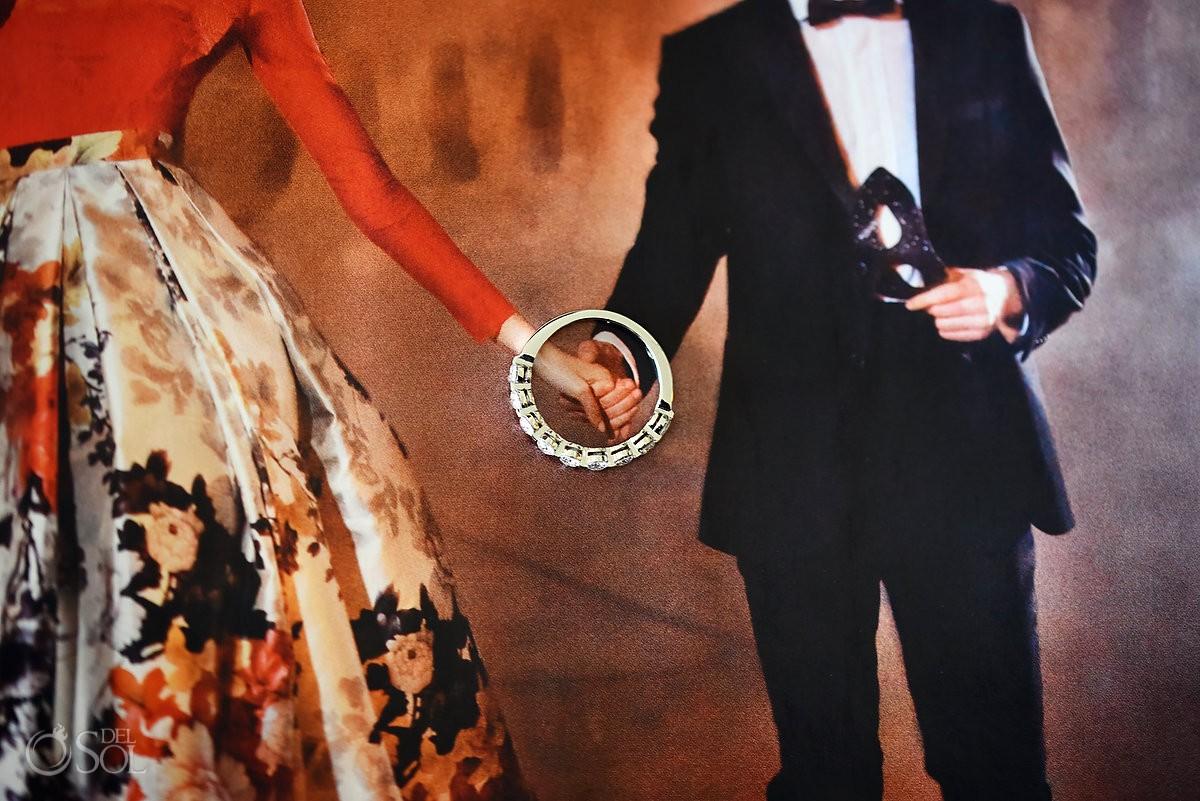 creative engagement ring photo destination wedding Paradisus La Perla, Playa del Carmen
