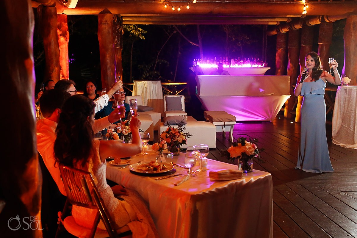 speeches destination wedding reception Paradisus La Perla Gazebo, Playa del Carmen Mexico