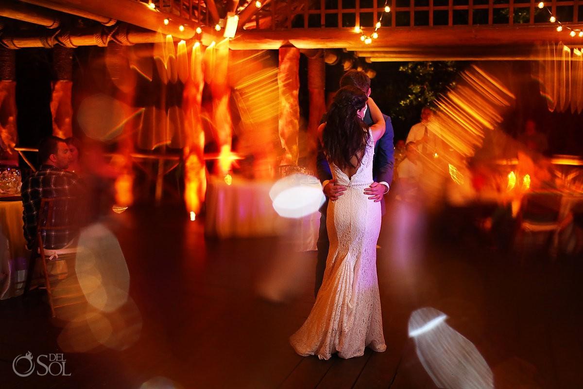 first dance destination wedding reception Paradisus La Perla Gazebo, Playa del Carmen Mexico