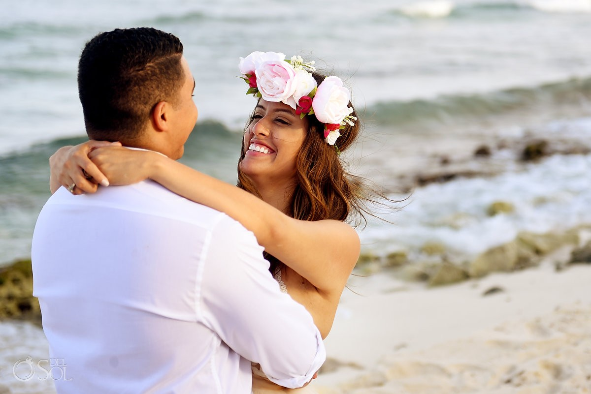 portrait destination wedding Blue Venado Beach Club Playa del Carmen