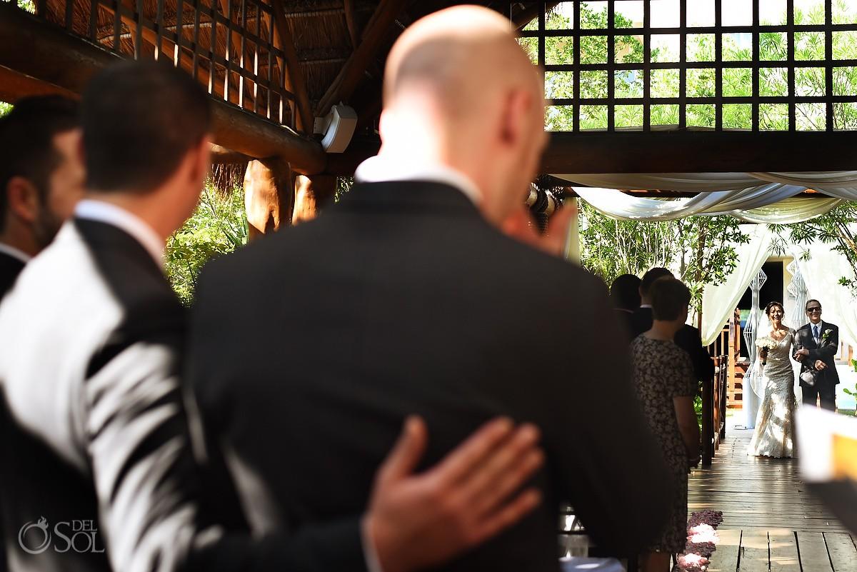 bride entrance destination wedding ceremony Paradisus gazebo Playa del Carmen, Mexico
