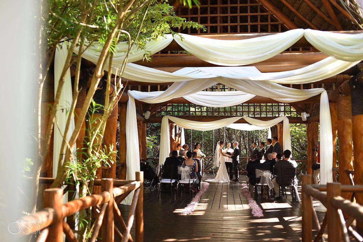 destination wedding Paradisus gazebo Playa del Carmen, Mexico