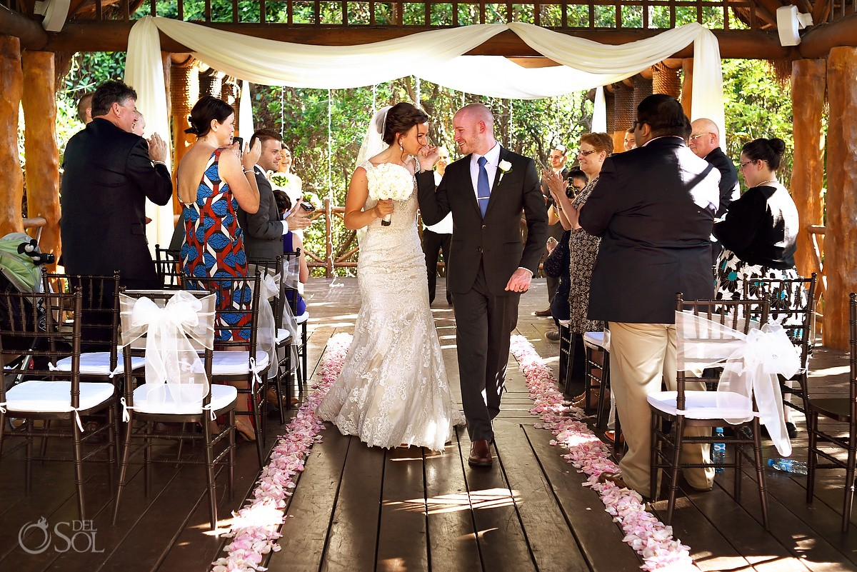 ceremony exit celebration destination wedding Paradisus gazebo Playa del Carmen, Mexico