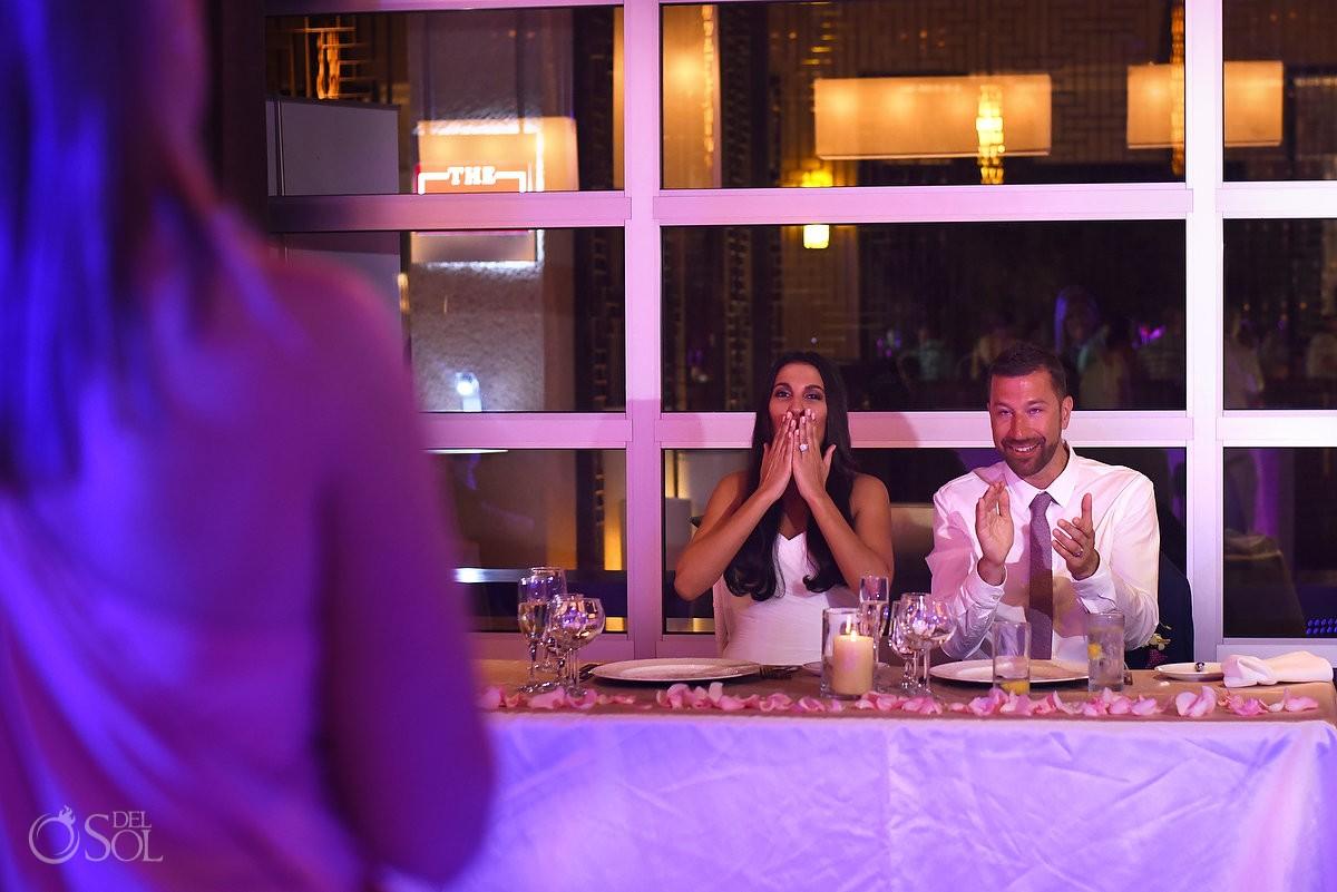 Destination Wedding Reception, Paradisus Hadar Restaurant, Riviera Maya, Mexico.