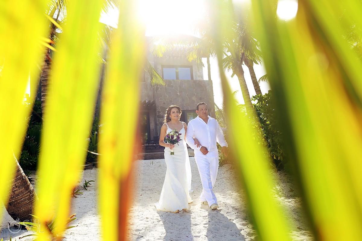 creative framing bride entrance Destination Wedding Casa Maya Kaan, Sian Ka'an, Tulum, Mexico