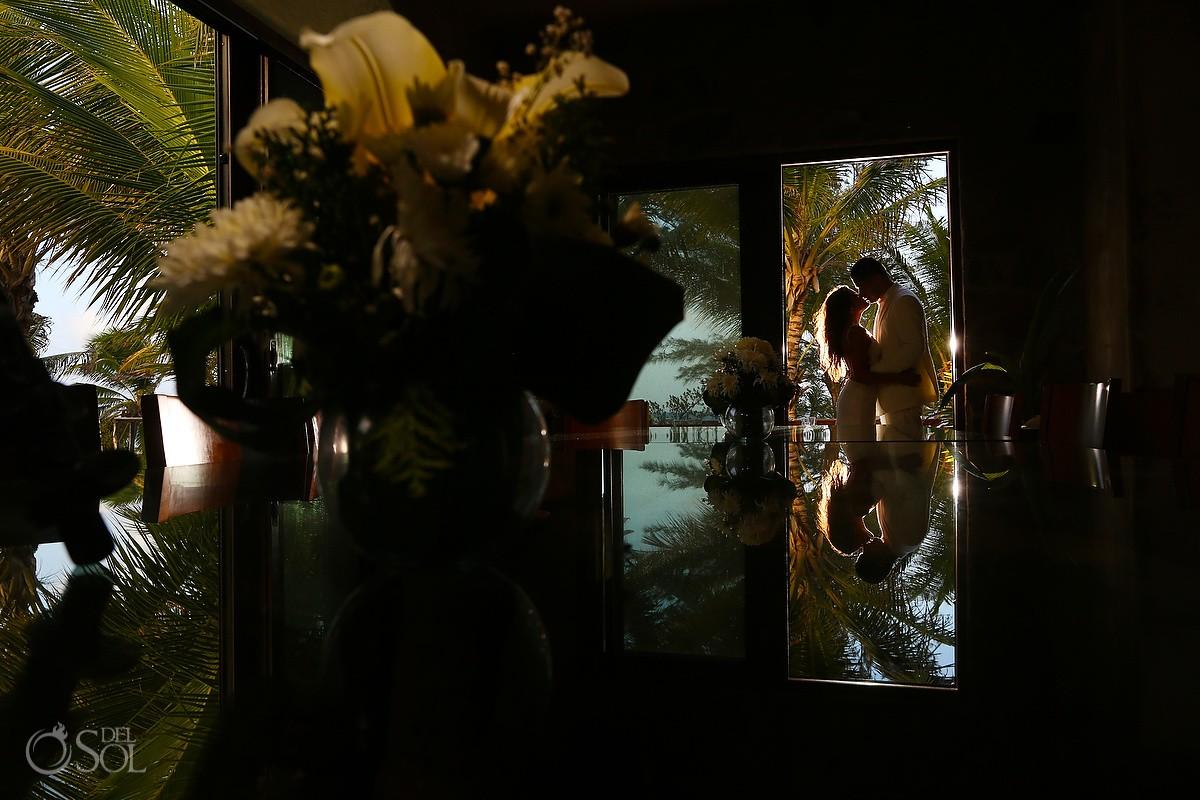Artistic interior Destination Wedding portrait Casa Maya Kaan, Sian Ka'an, Tulum, Mexico