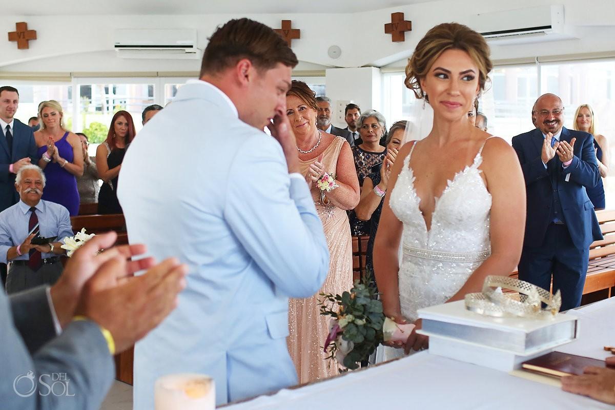 wedding guests Coptic Christian Orthodox Wedding San Charbel Chapel Hard Rock Hotel Riviera Maya