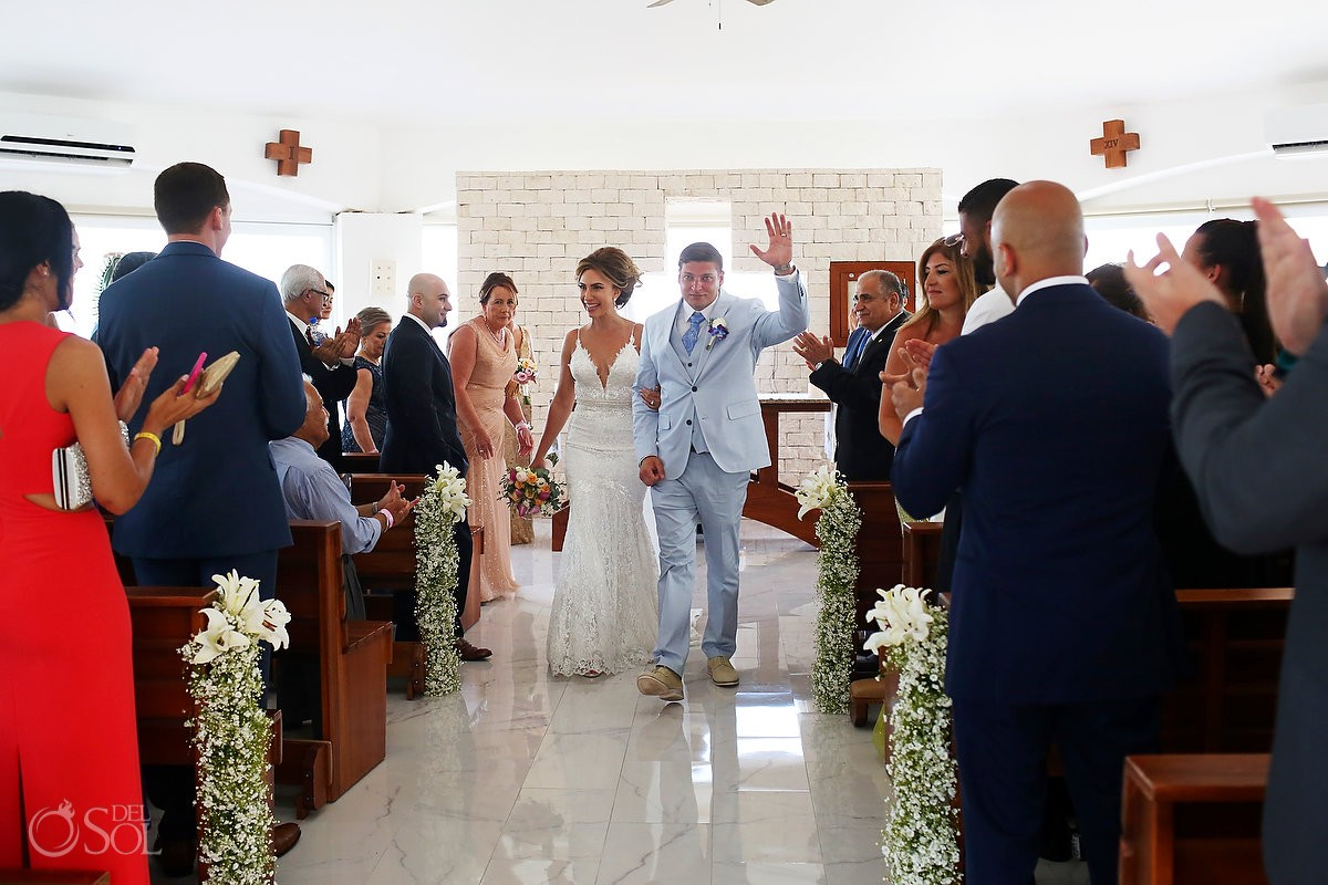 celebration exit Coptic Christian Orthodox Wedding San Charbel Chapel Hard Rock Hotel Riviera Maya