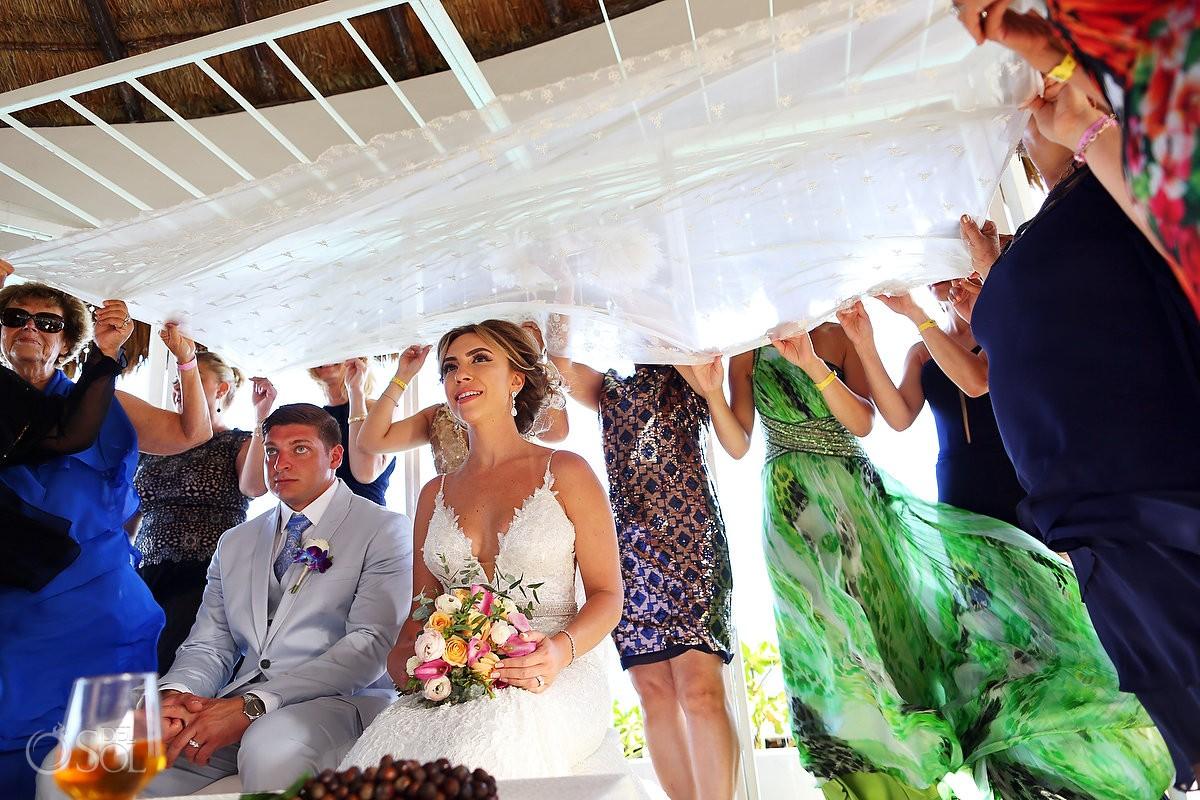 Persian destination wedding ceremony Hard Rock Hotel Riviera Maya gazebo, Mexico