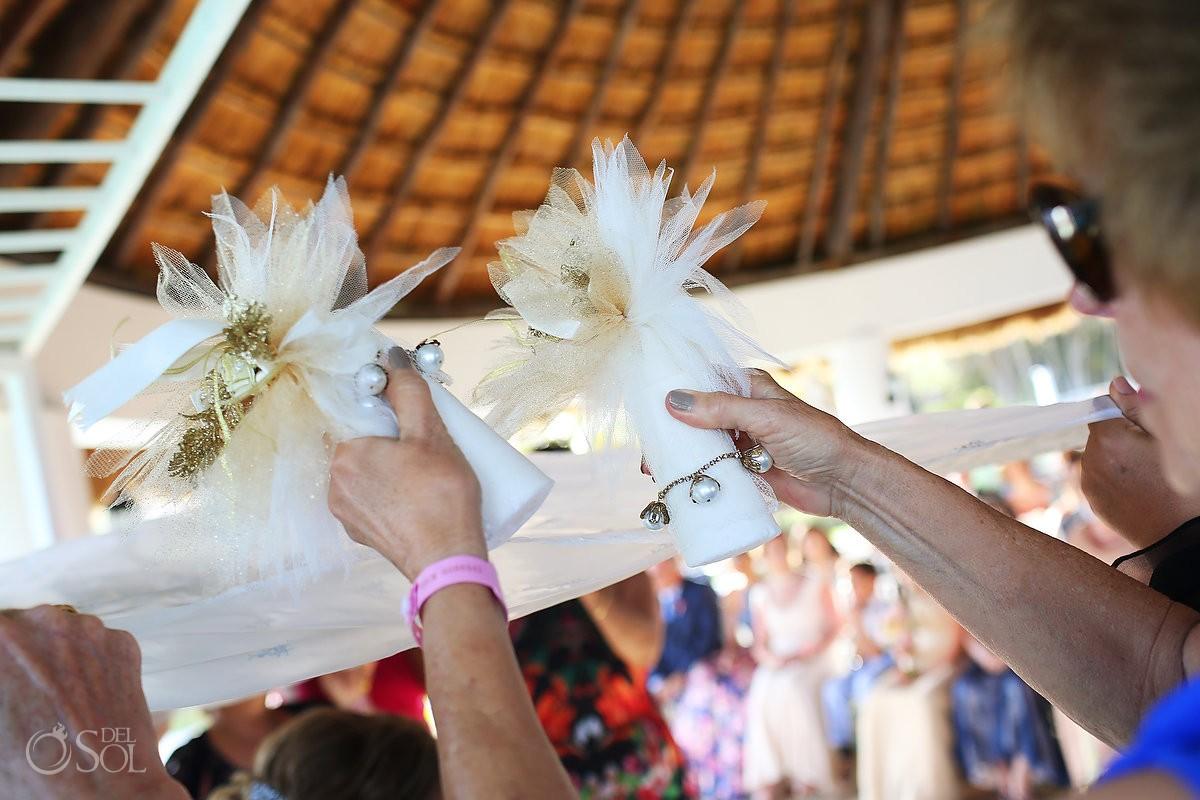 sugar cones Kalleh Ghand Persian destination wedding ceremony Hard Rock Hotel Riviera Maya gazebo, Mexico
